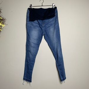 Pink maternity jeans